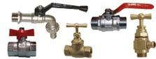 Brass taps and valves