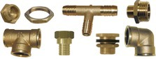 Brass fittings and end caps