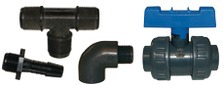 Polypropylene fittings, nipples and valves