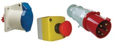Industrial sockets and plugs